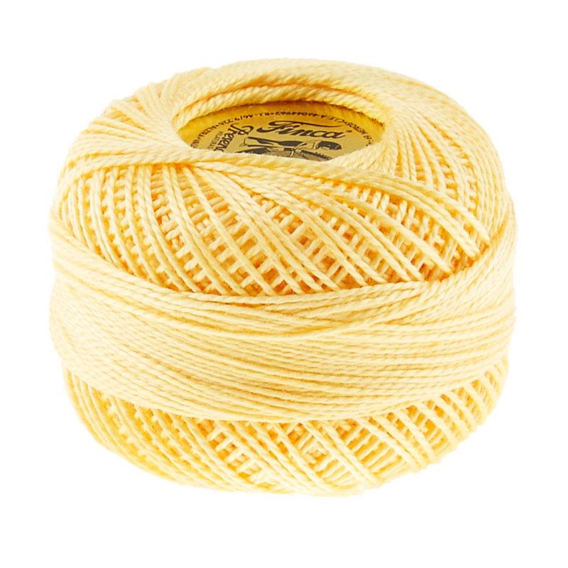 Finca Perle Cotton- Size 8 Pale Yellow