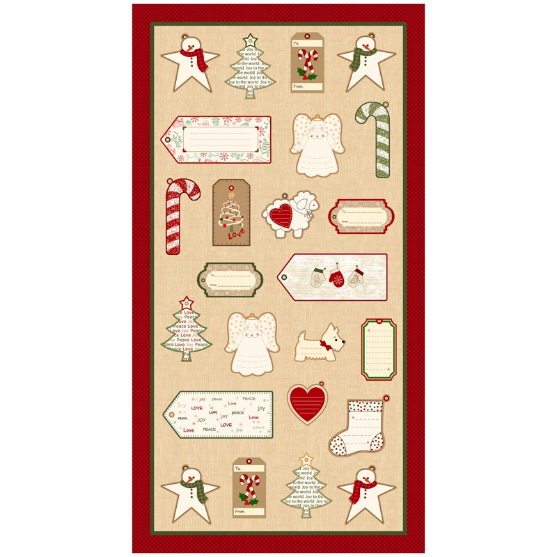 Wrapped in Joy - Gift Tags Panel