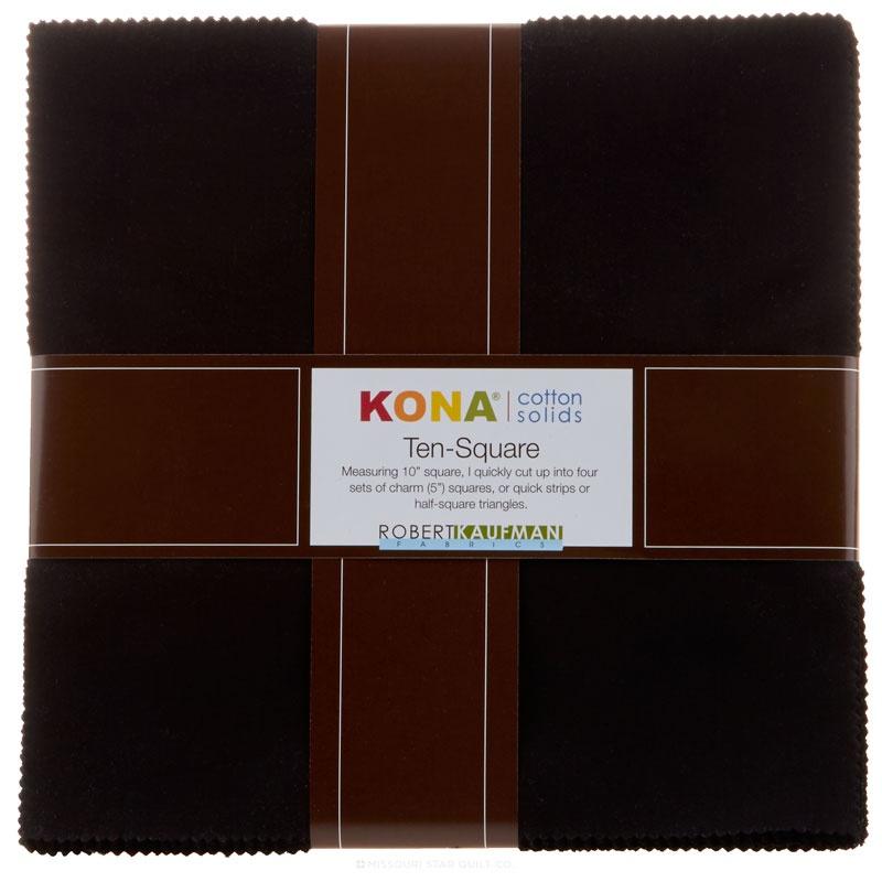 Kona Solids Ten Squares Black