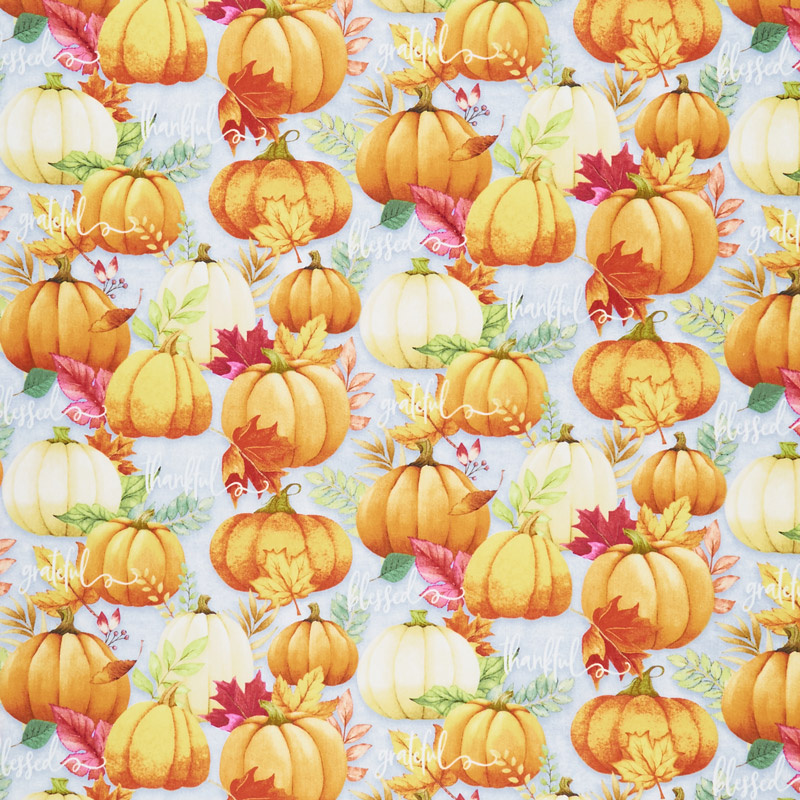 Happy Gatherings - Pumpkin Allover Gray