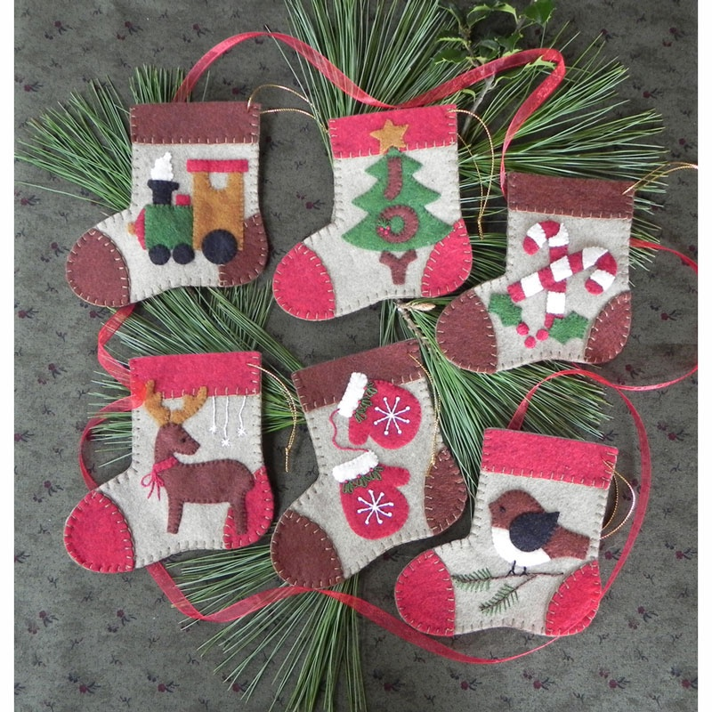 Warm Feet Ornaments Kit designed by Rachel's of Greenfield