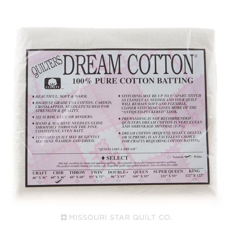 Quilters Dream Cotton Select White Craft Size 46inx36in