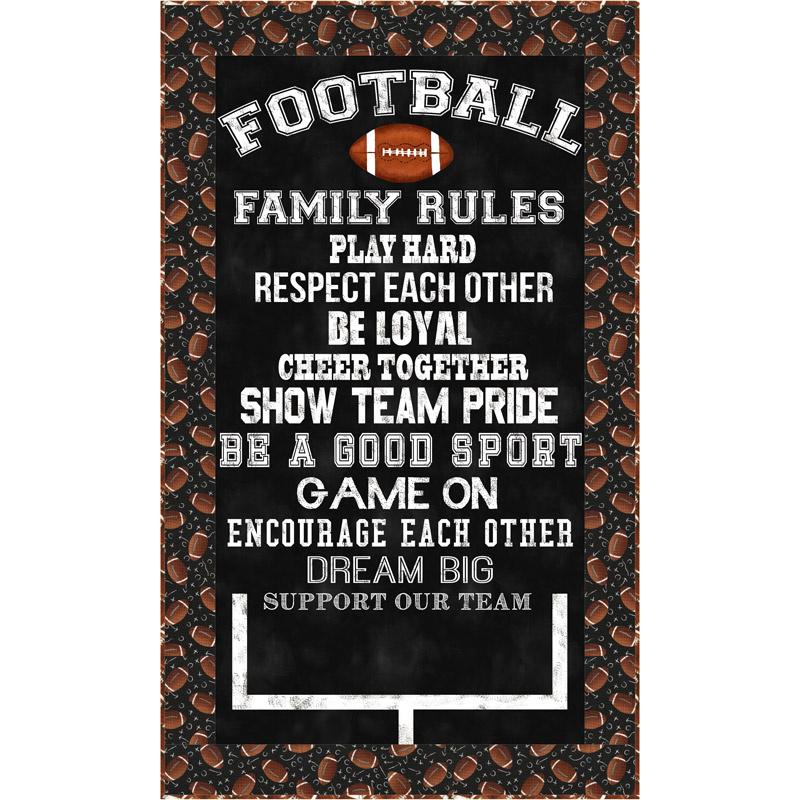 Football Family Rules Panel