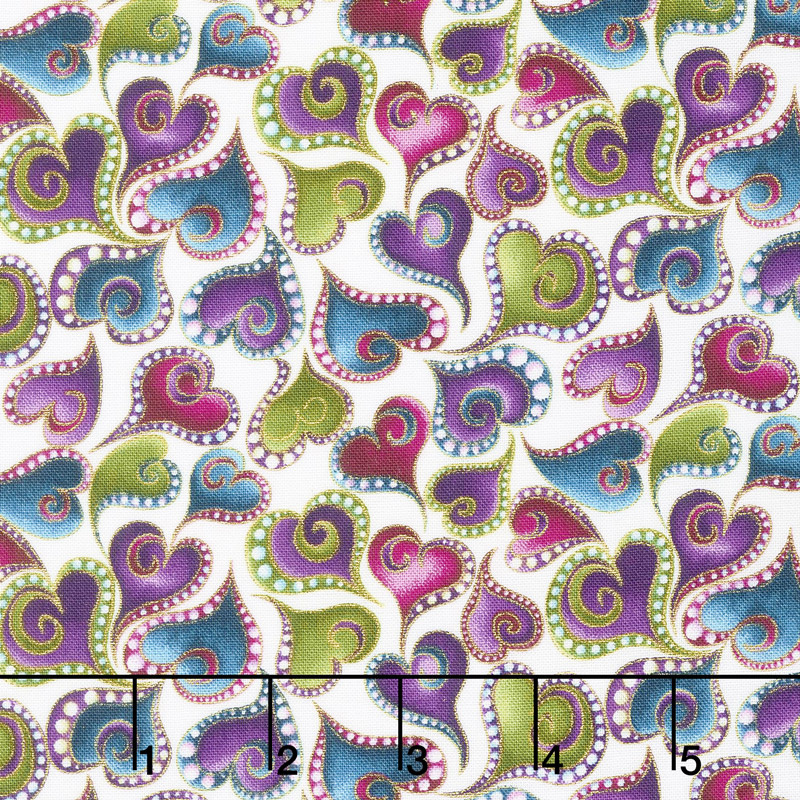 **4202M Color 09 Hearts and Cats