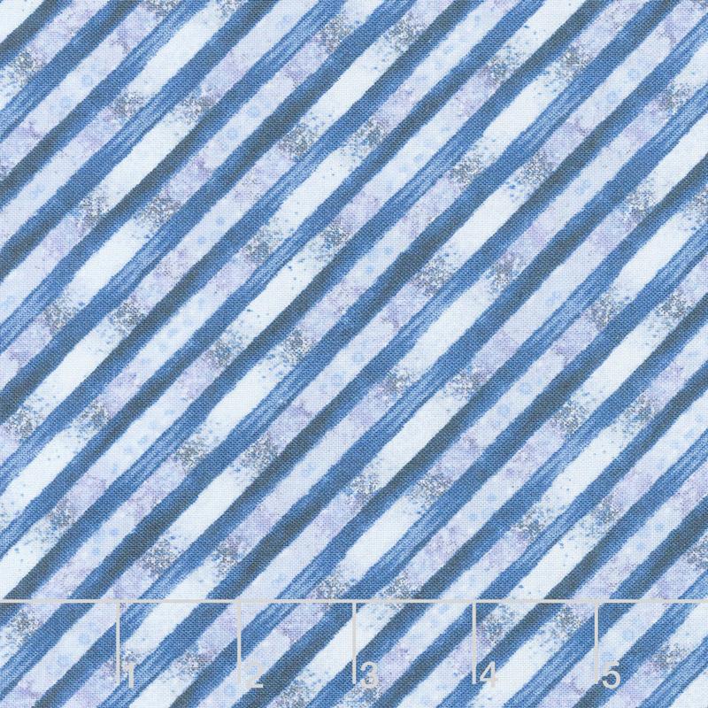 Bohemian Dreams - Stripe Blue Yardage
