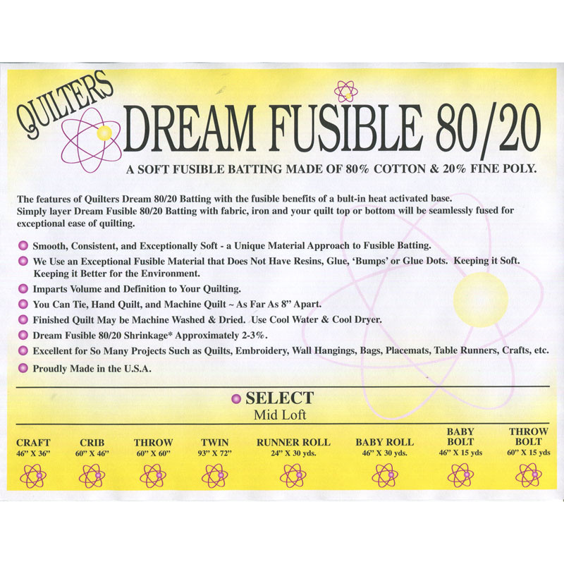 Quilter's Dream Fusion Crib Batting