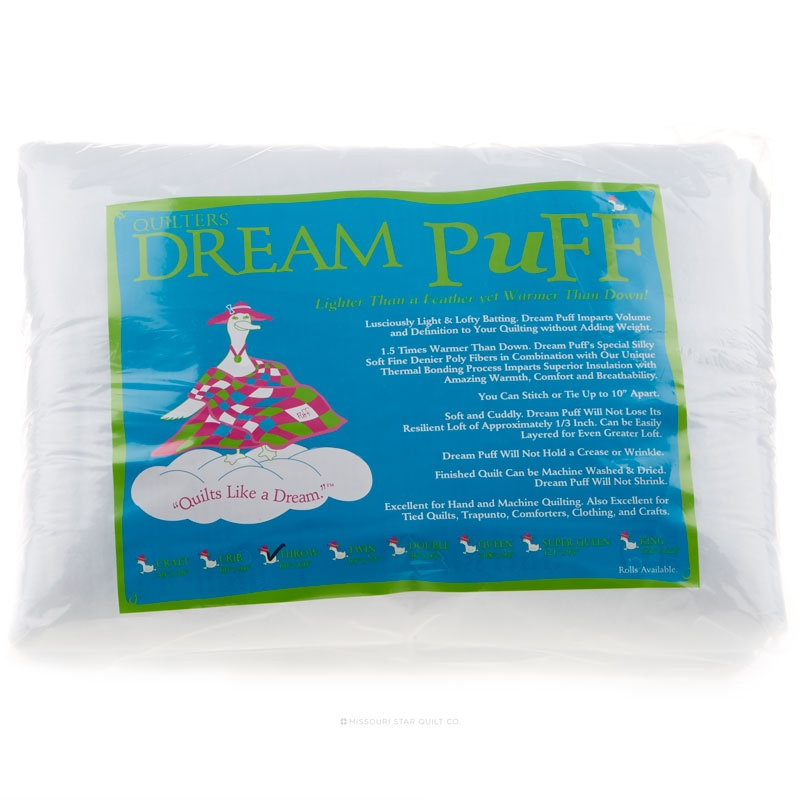 Quilters Dream Puff White Throw Size 60in x 60in