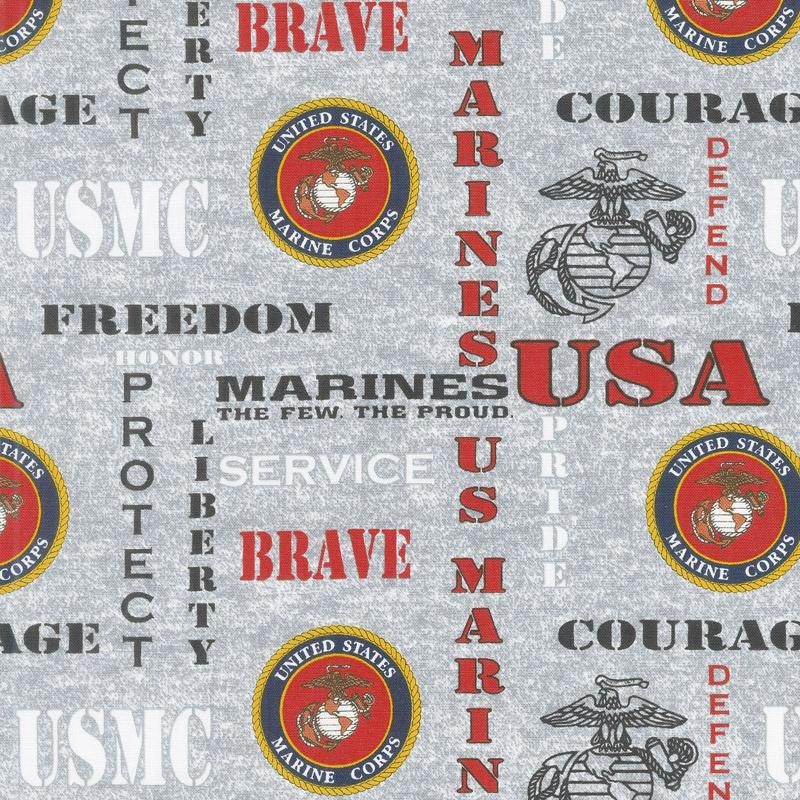 Military - Marines Gray Yardage 1181-M