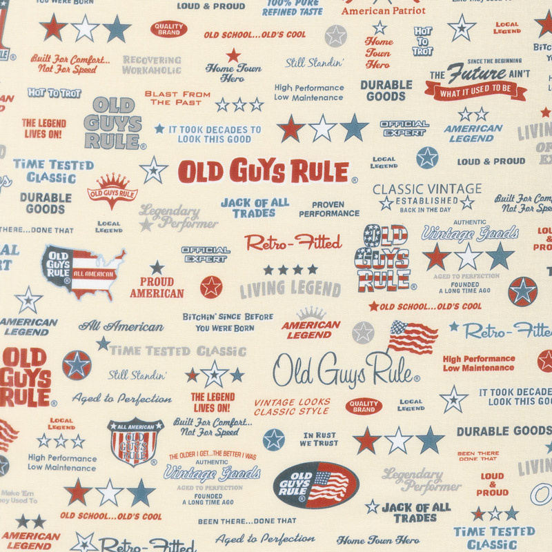 Old Guys Rule - Words Natural Yardage