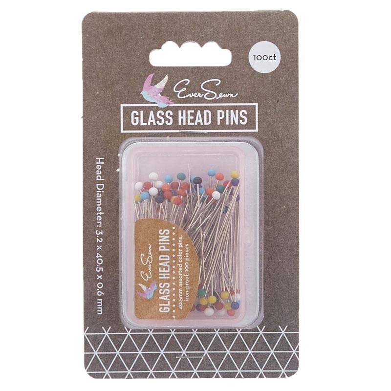 Color Glass Head Pins