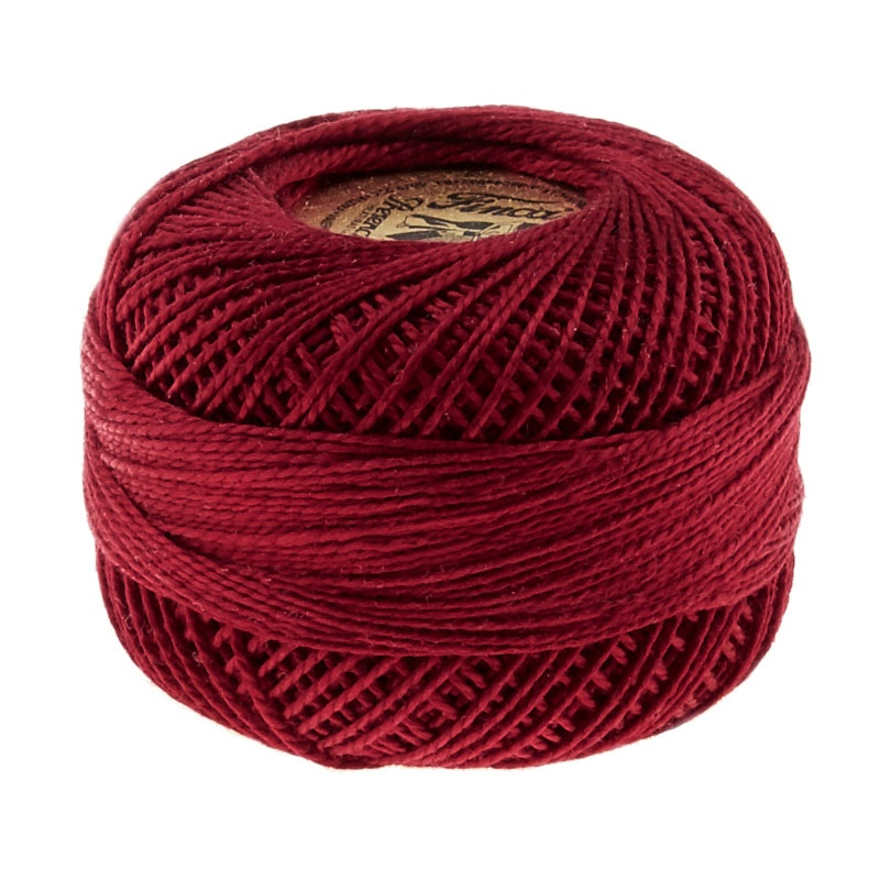 Finca Perle Cotton- Size 8 Dark Cranberry