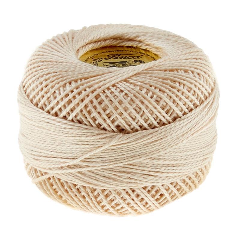 Finca Perle Cotton- Size 8 Dark Ecru 441