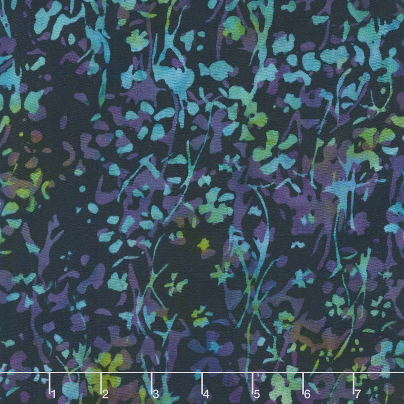 Jeweled Flowers Batik Rayon by Island Batiks