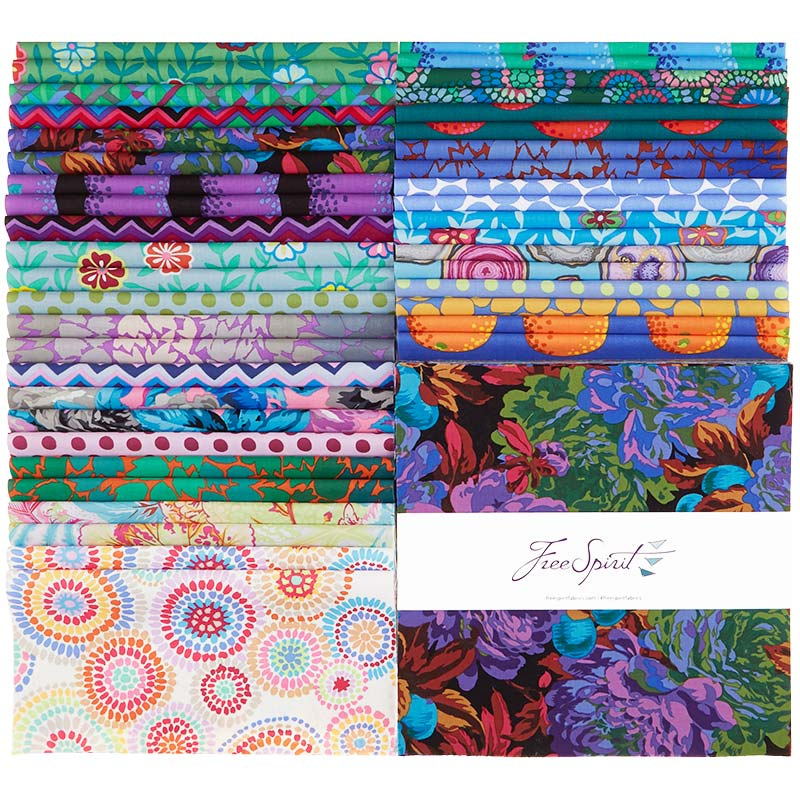 Kaffe Fassett Collective - February 2020 Cool - 42pc/bundle 10 Squares