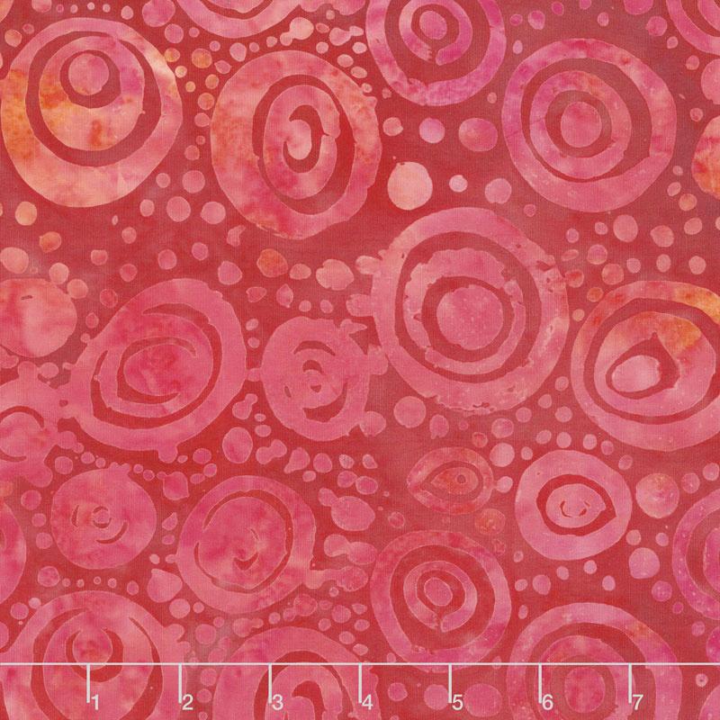 Soul Song Batiks - Circles Sunset Yardage