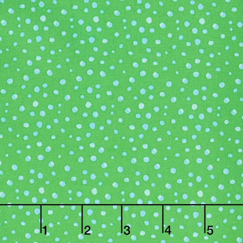 Animal Magic - Dot Green Yardage
