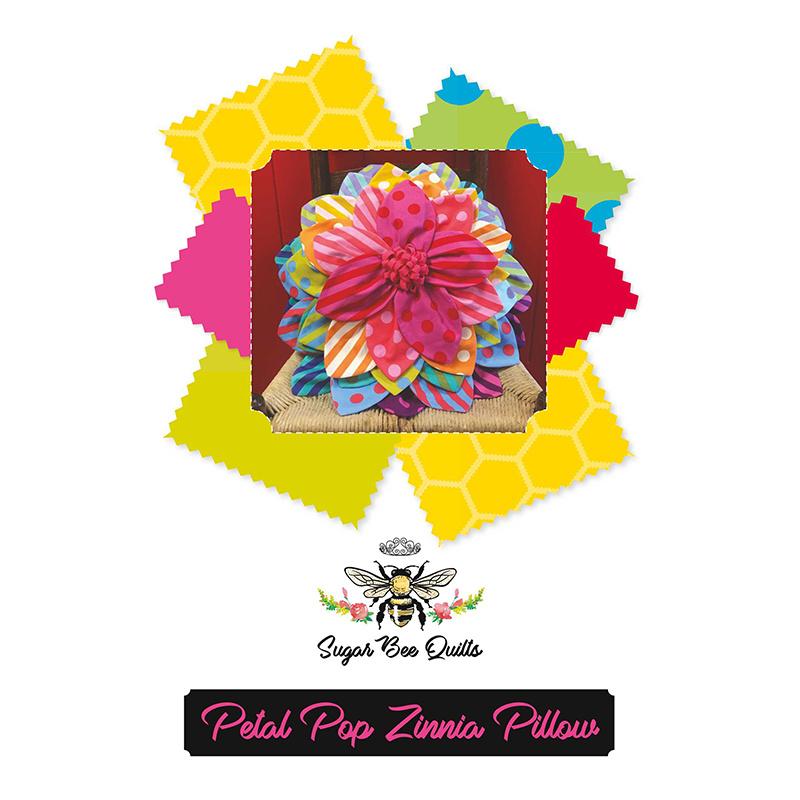 Petal Pop Zinnia Pillow Pattern