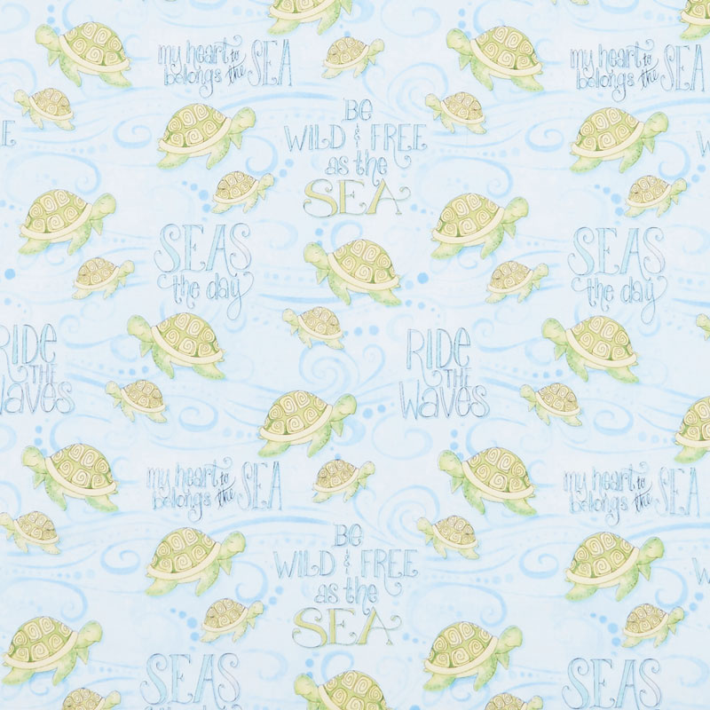 Water Wishes - Sea Turtles Blue