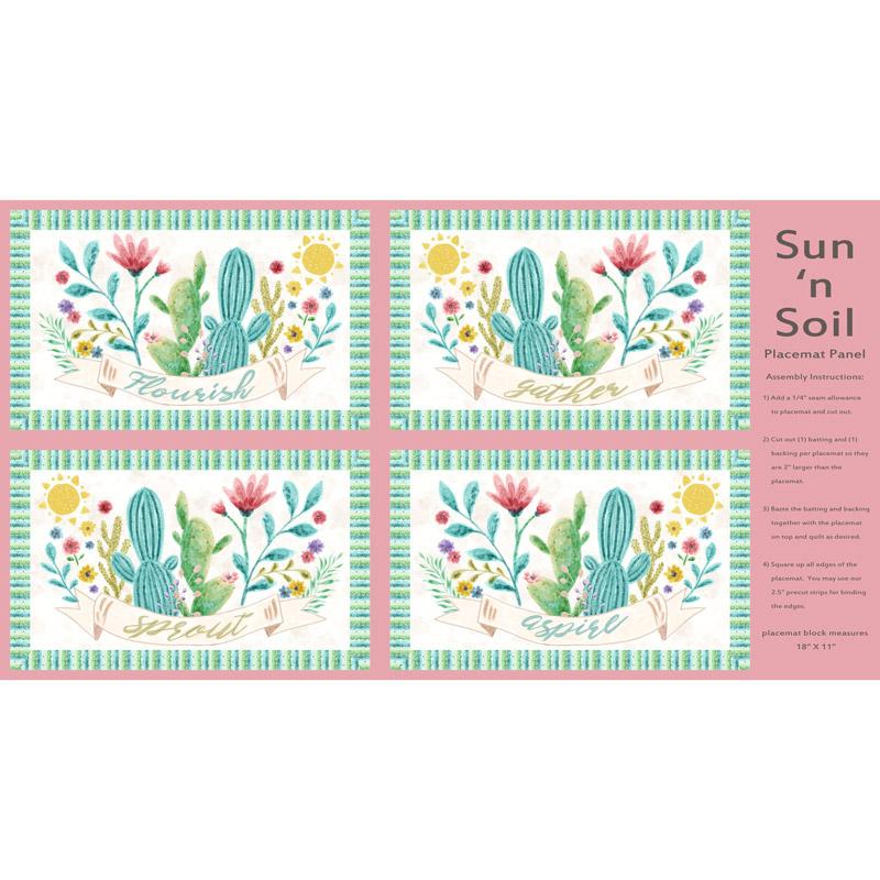 Sun N' Soil Pink Placemat Panel