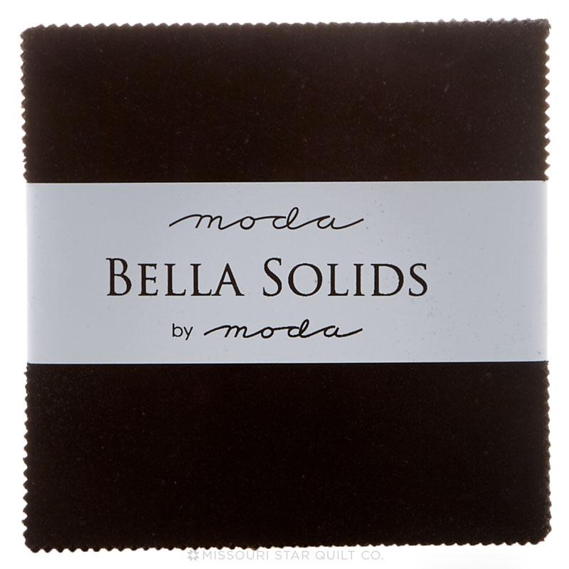 Bella Solids Charm Pack Black