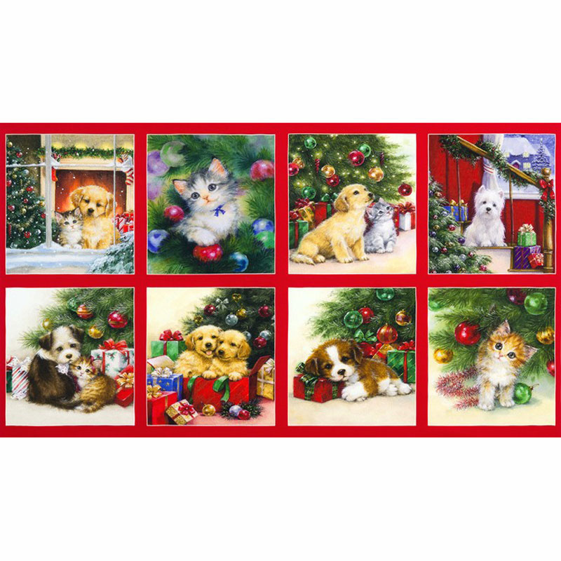 Christmas Pets - Cat Dog Panel