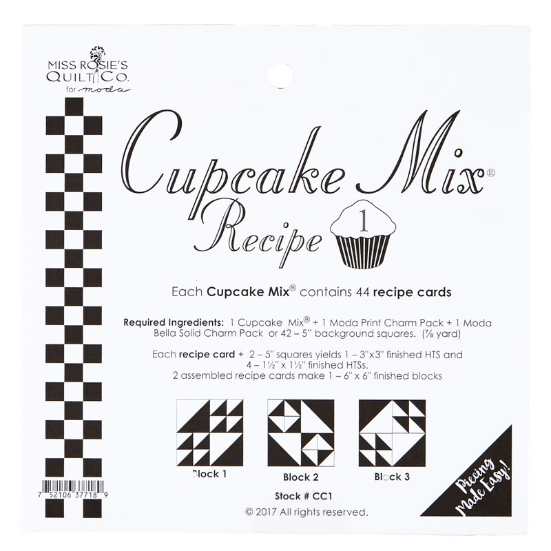 Cupcake Mix Recipe 1 by Miss Rosie's Quilt Co.