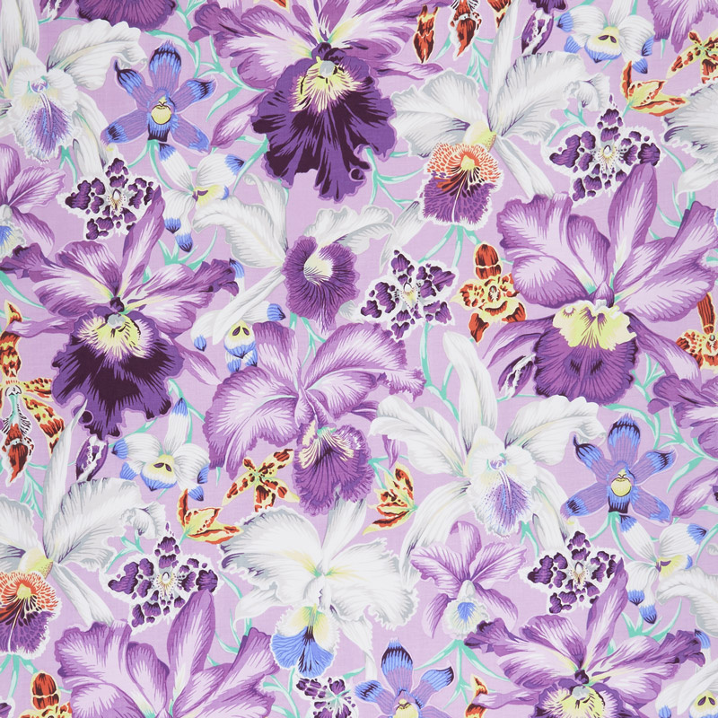 Kaffe Fassett Collective Spring 2018 - Orchids Cool Yardage
