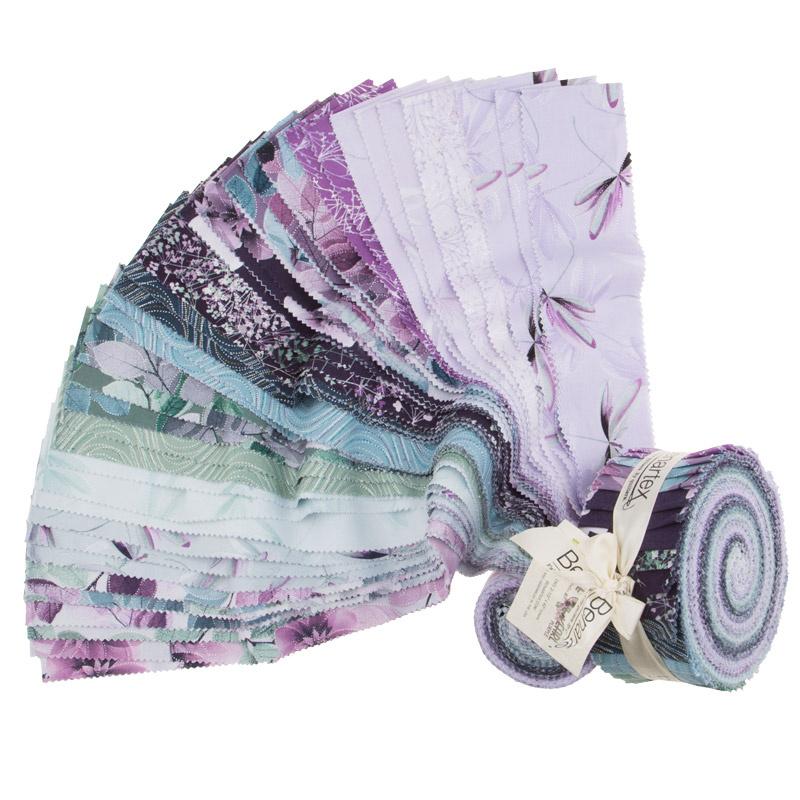 Benartex Essence of Pearl Purple 2.5 Strips Pinwheel - 40pcs