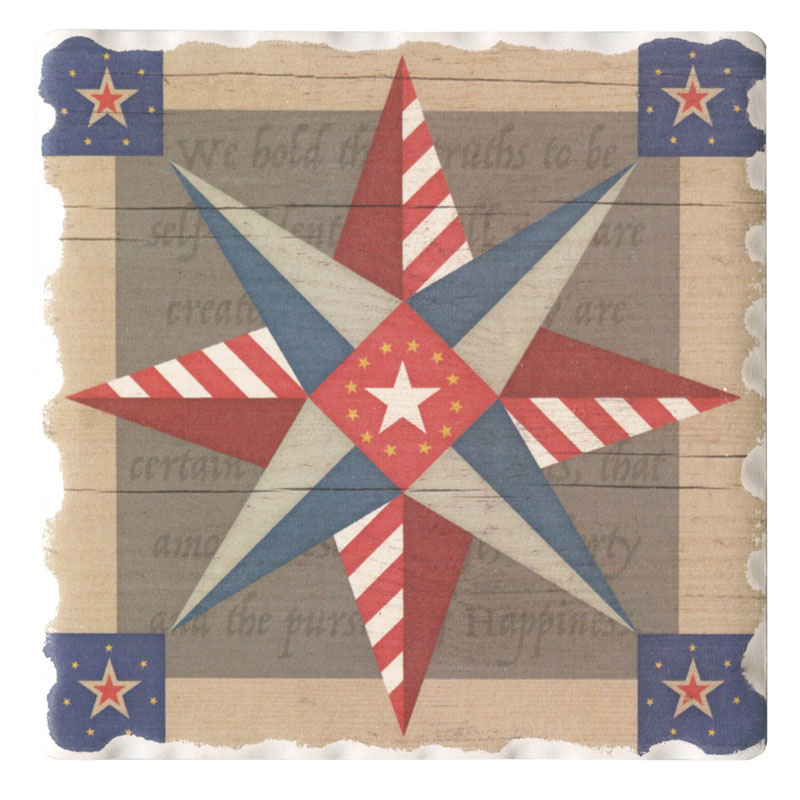 Barn Quilts Coaster - American Guiding Star