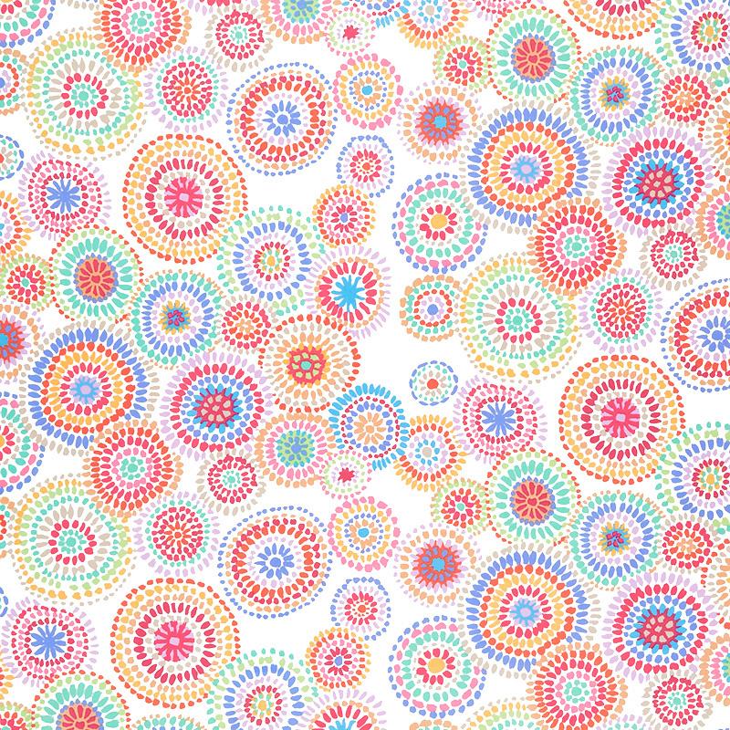 Mosaic Circles White