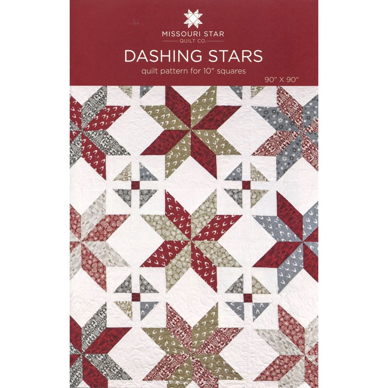 Dashing Stars Quilt Pattern by MSQC