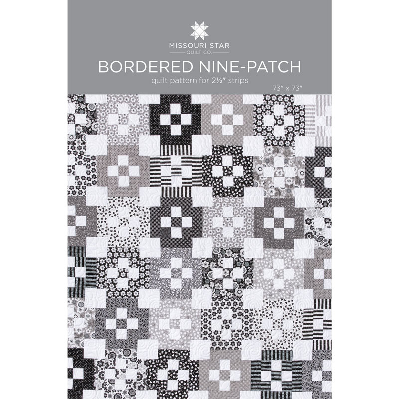 Bordered Nine-Patch Quilt Pattern by MSQC