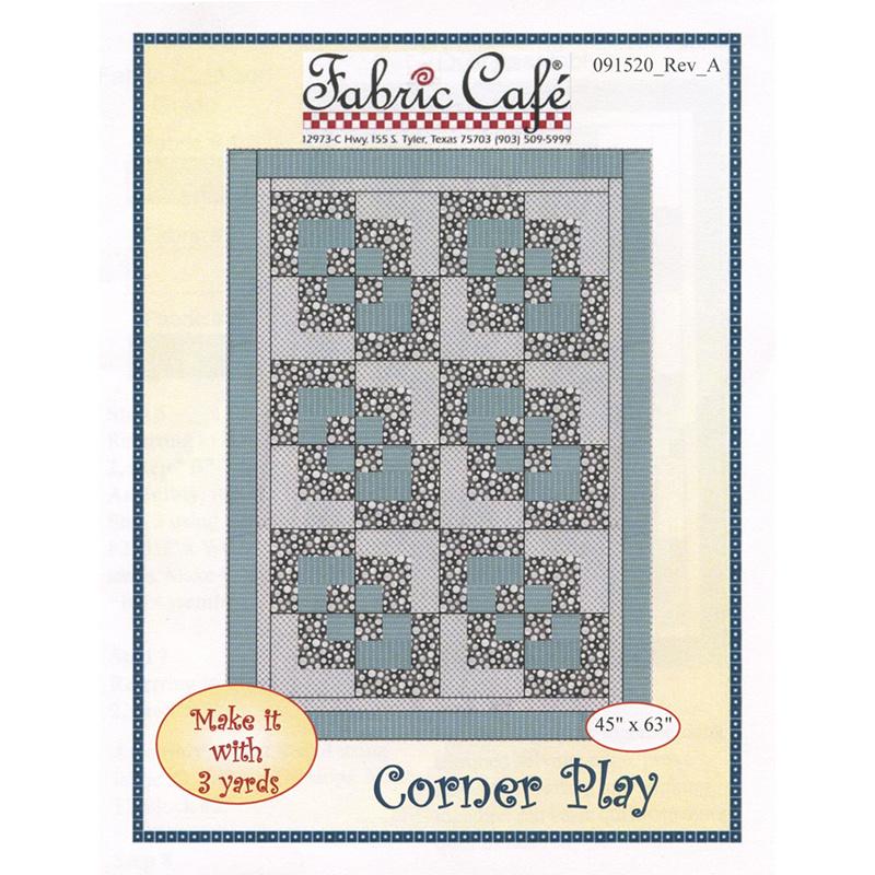 Corner Play 3 Yard Quilt Pattern
