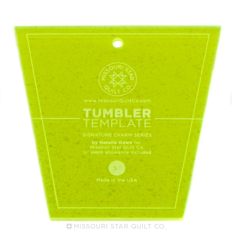 Missouri Star Small Tumbler Template for 5 Inch Charm Packs