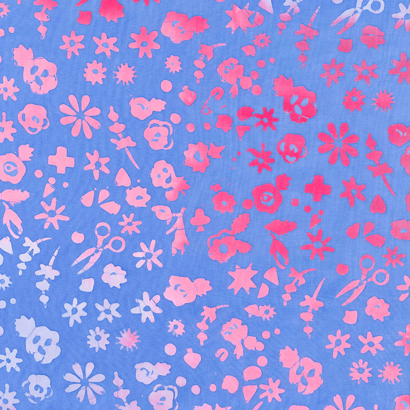 Stitched - Floral - Periwinkle