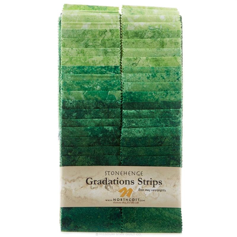 Northcott-Stonehenge-Gradations Brights Strips-Rainforest