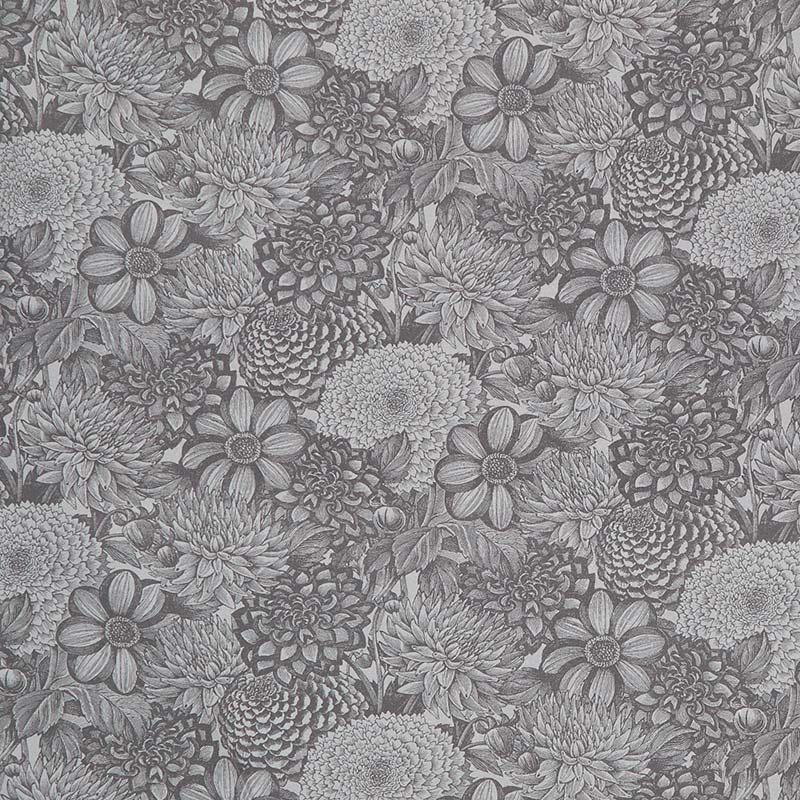 Floral Toile Dark Gray 108 Inch Wide Back