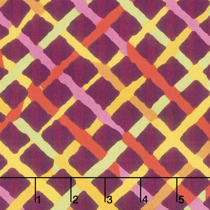 Kaffe Fassett PWBM037.MAROO - Night Mad Plaid Maroon Yardage