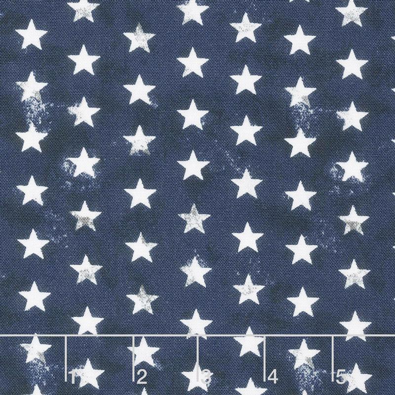 American Valor - Stars Navy Yardage