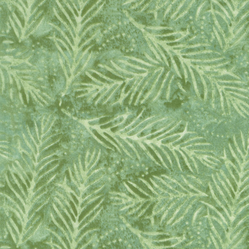 Delicate Fronds Light Green 108 Inch Wide Backing