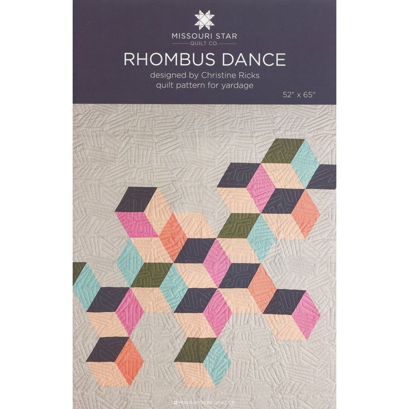 Rhombus Dance Quilt Pattern by MSQC