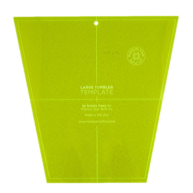 Missouri Star Large Tumbler Template for 10 Inch Squares