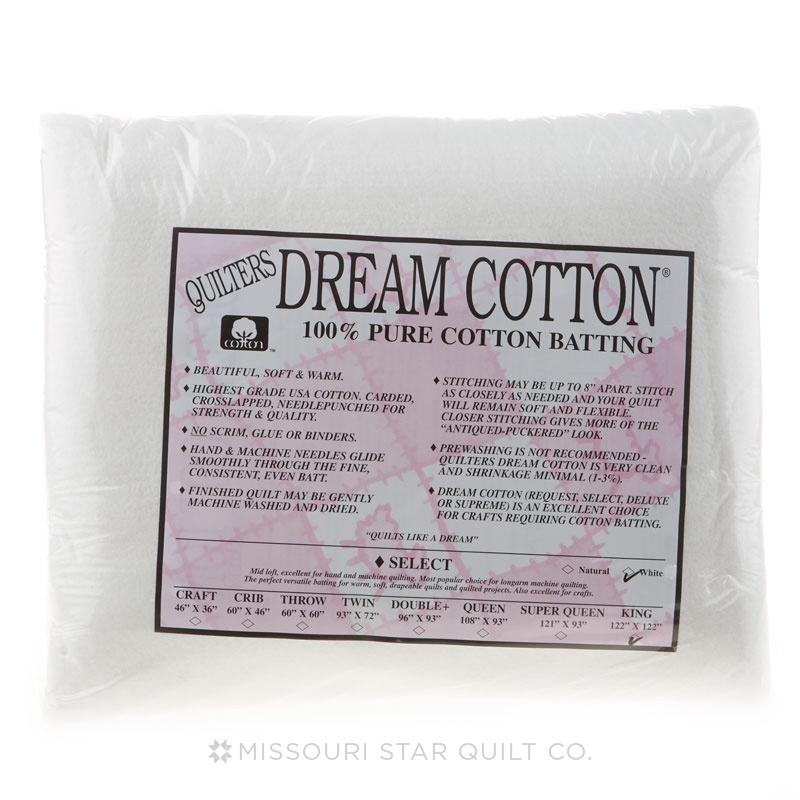 Quilter's Dream Select White Cotton King Batting