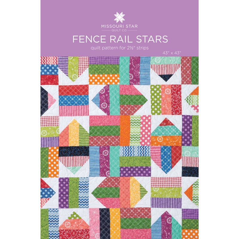Fence Rail Star Quilt Pattern by MSQC