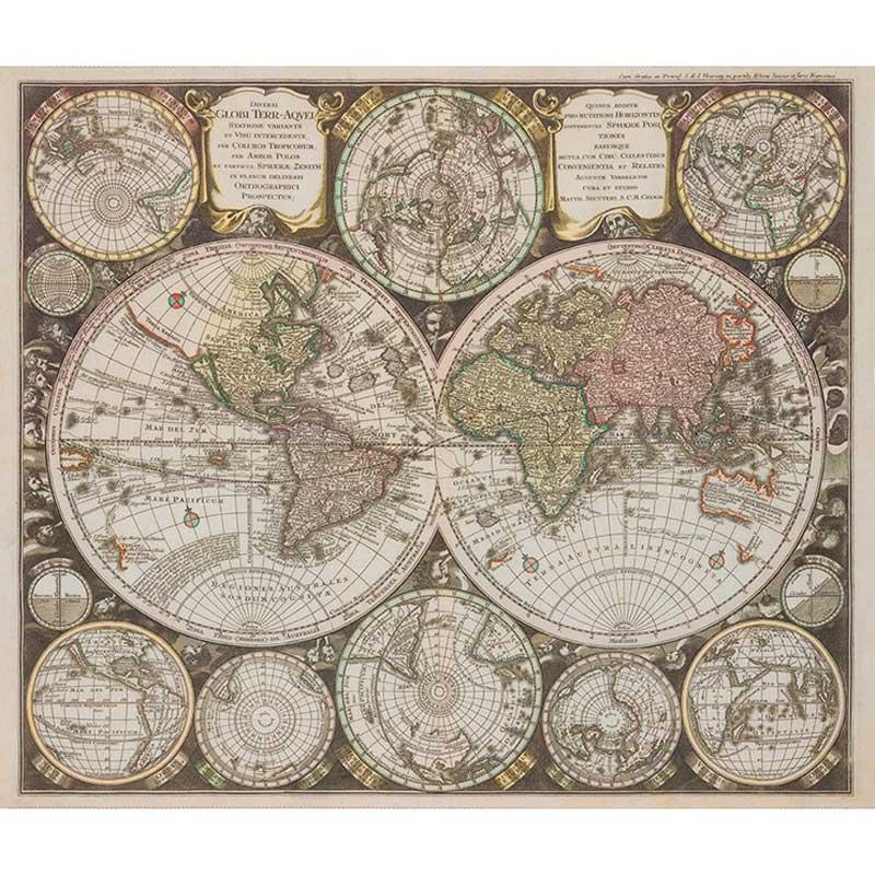 Vintage Blueprints Map Panel