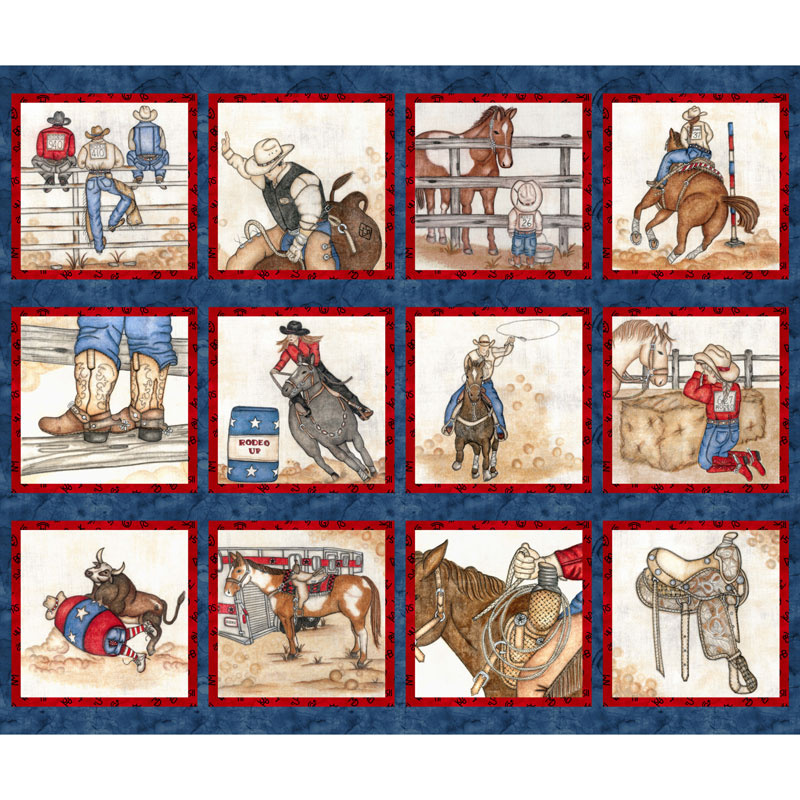 Rodeo Up - Blocks Blue Panel