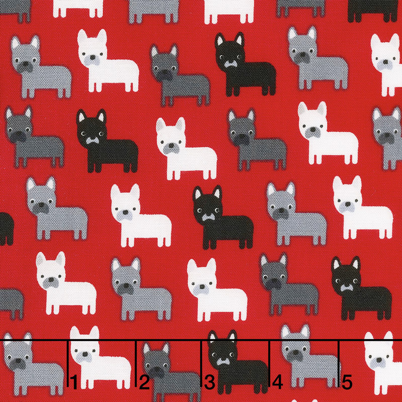 Urban Zoologie Minis Dogs on Red