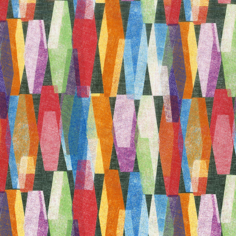 108 Inch Quilt Back - Lava Lamp Black 108 Inch Wide Backing