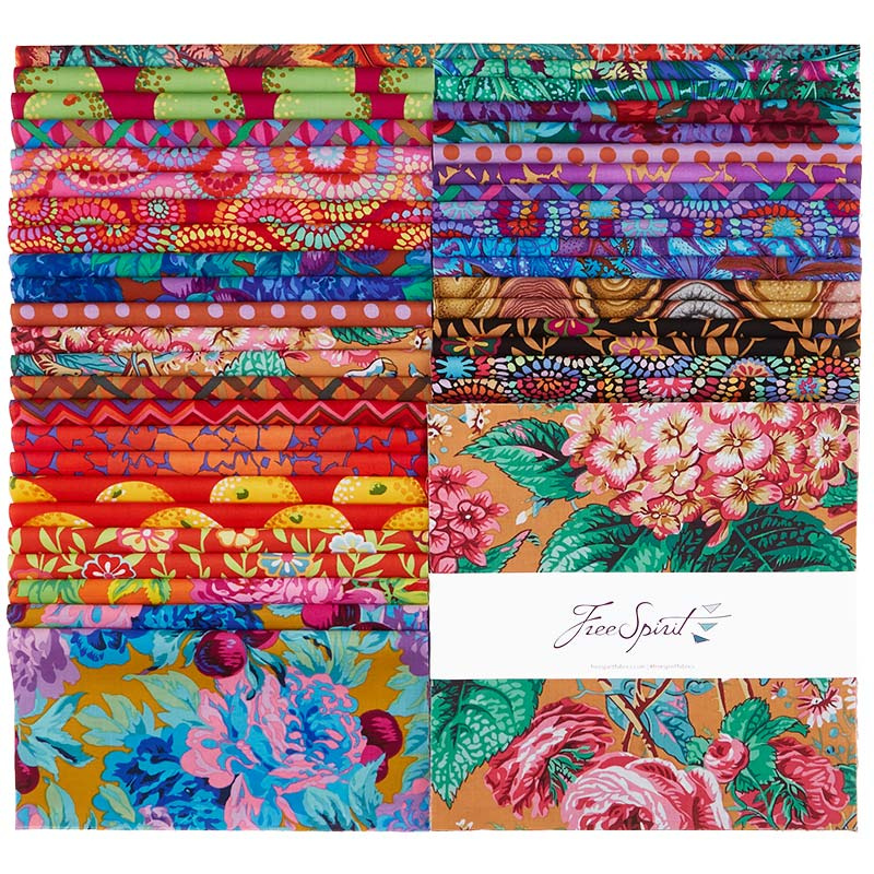 Kaffe Fassett Collective - February 2020 Warm - 42pc/bundle 10 Squares