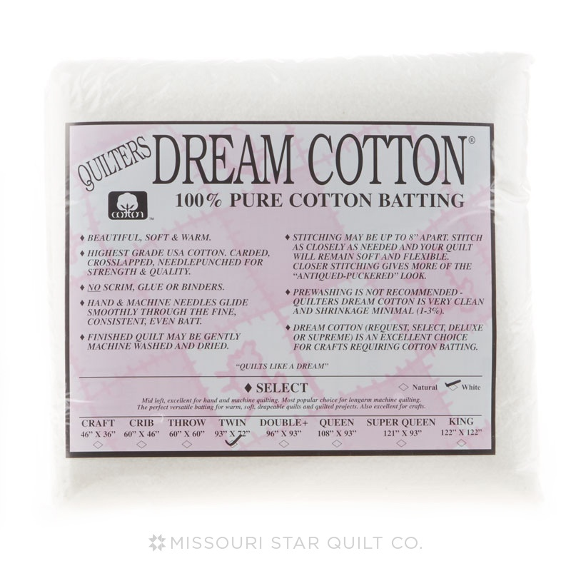 QUILTERS DREAM TWIN WHITE SELECT